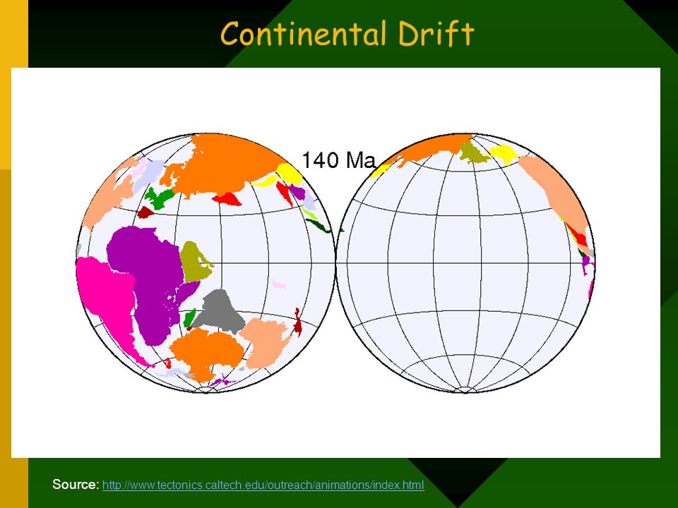 Continental Drift How fast are the plates moving Plates move 1-10 centimeters per year (≈ rate of fingernail growth).
