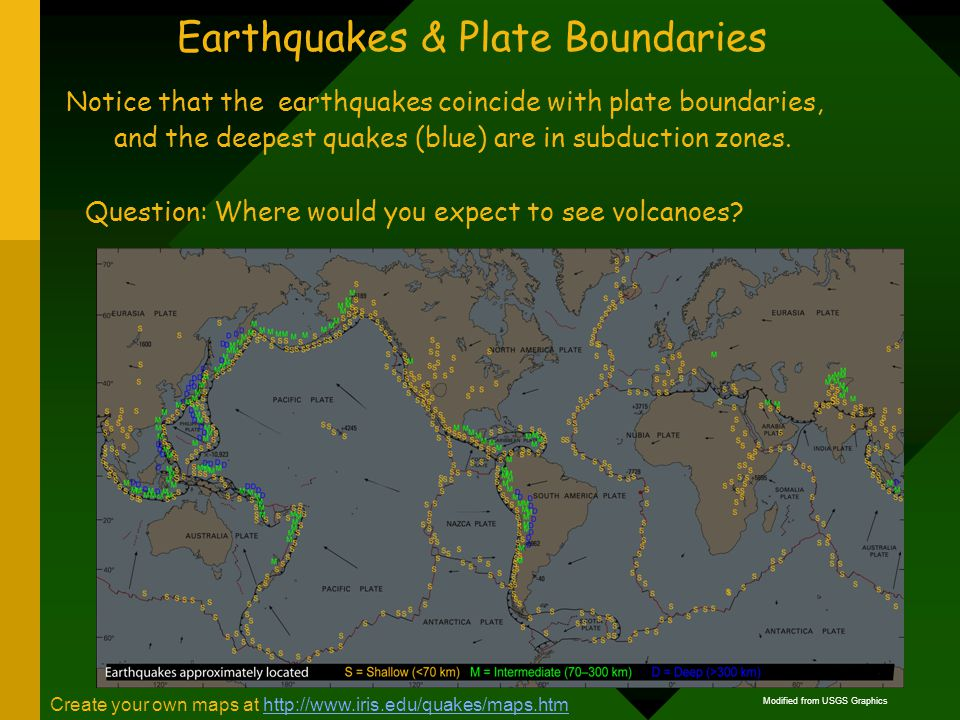 relationship between earthquake and plate boundaries