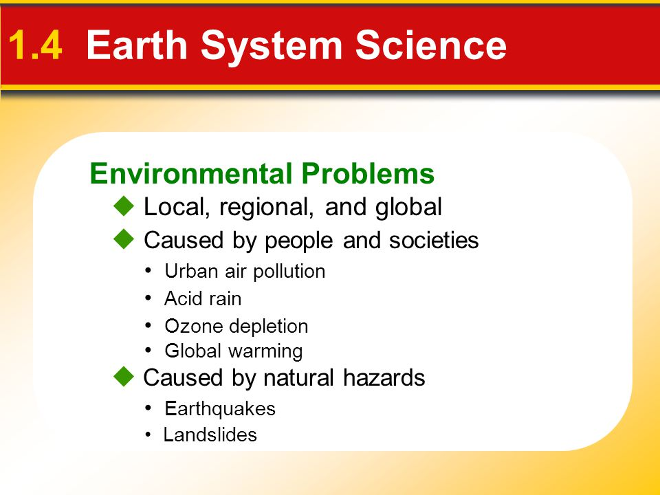 1.4 Earth System Science Environmental Problems