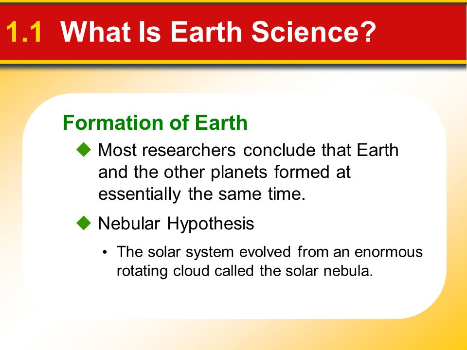 1.1 What Is Earth Science Formation of Earth