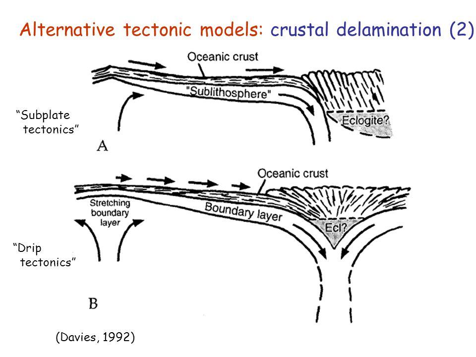 Alternative tectonic models: crustal delamination (2)