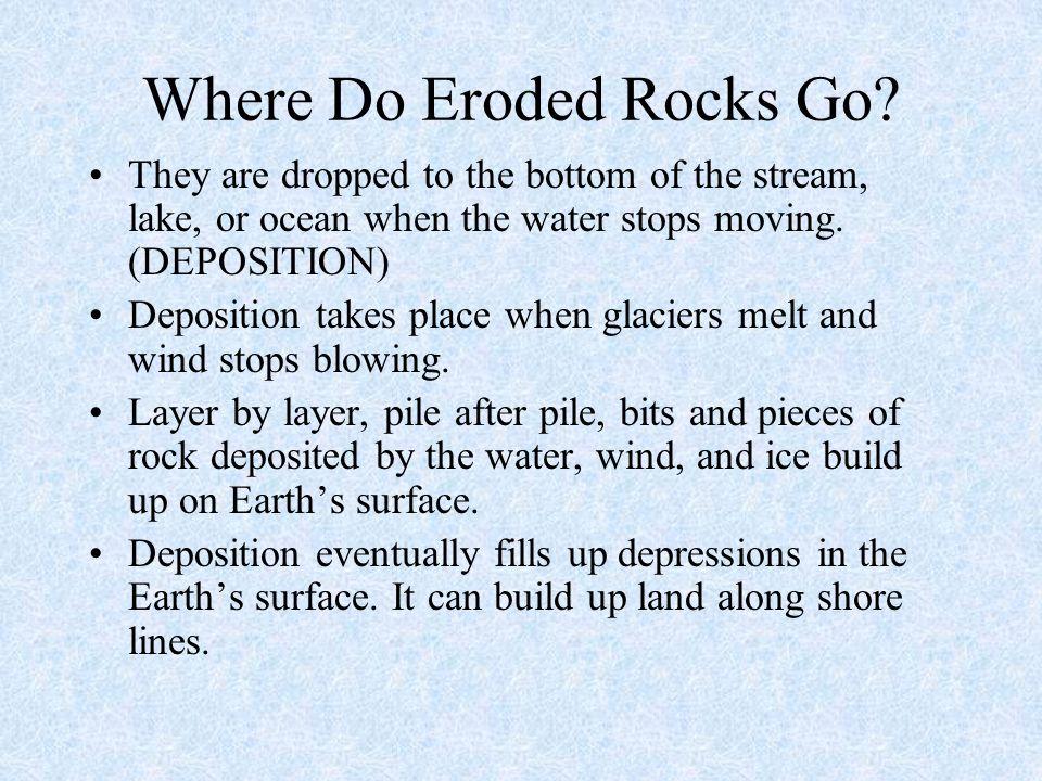 Where Do Eroded Rocks Go
