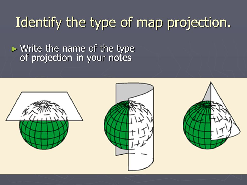 Identify the type of map projection.