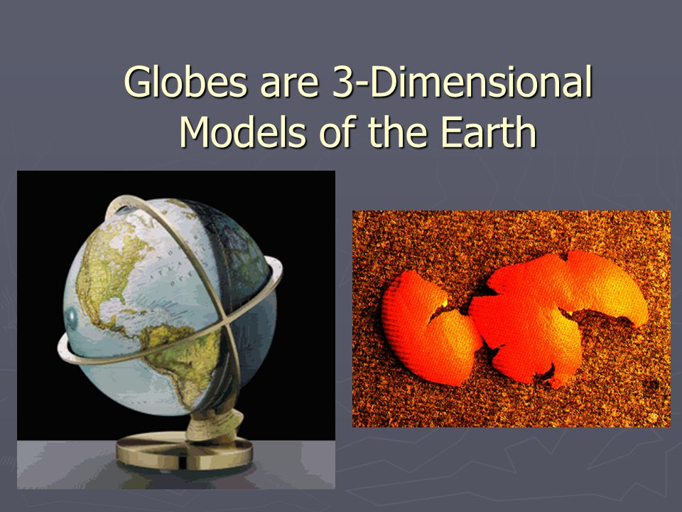 Globes are 3-Dimensional Models of the Earth