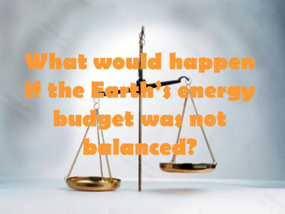 What would happen if the Earth's energy budget was not balanced