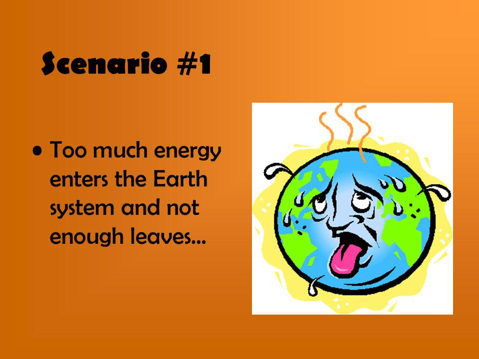 Scenario #1 Too much energy enters the Earth system and not enough leaves…