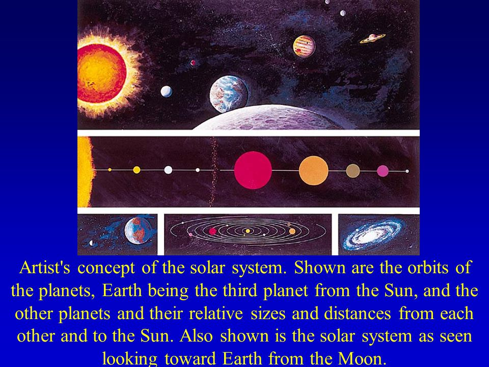Artist s concept of the solar system