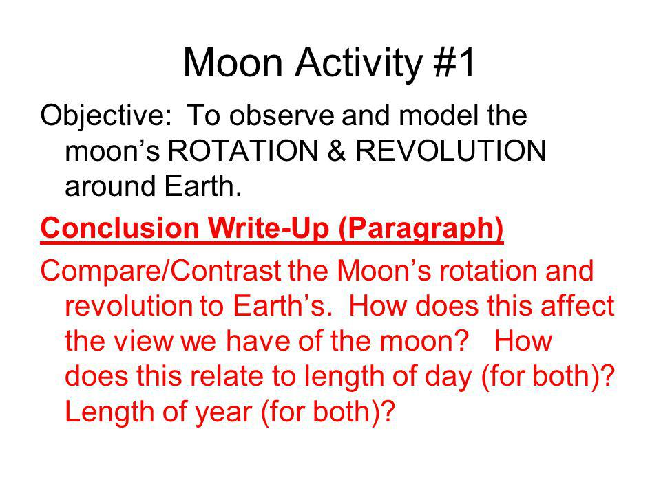 Moon Activity #1