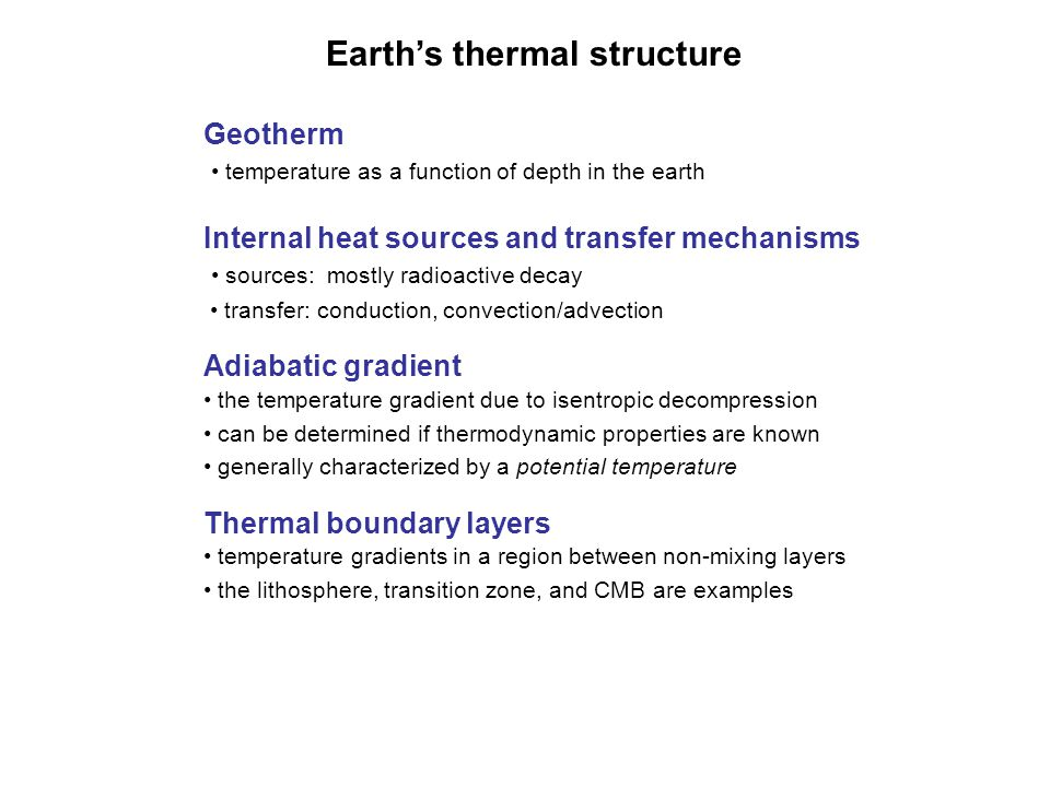 Earth's thermal structure