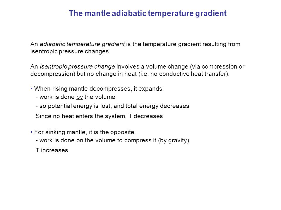 The mantle adiabatic temperature gradient