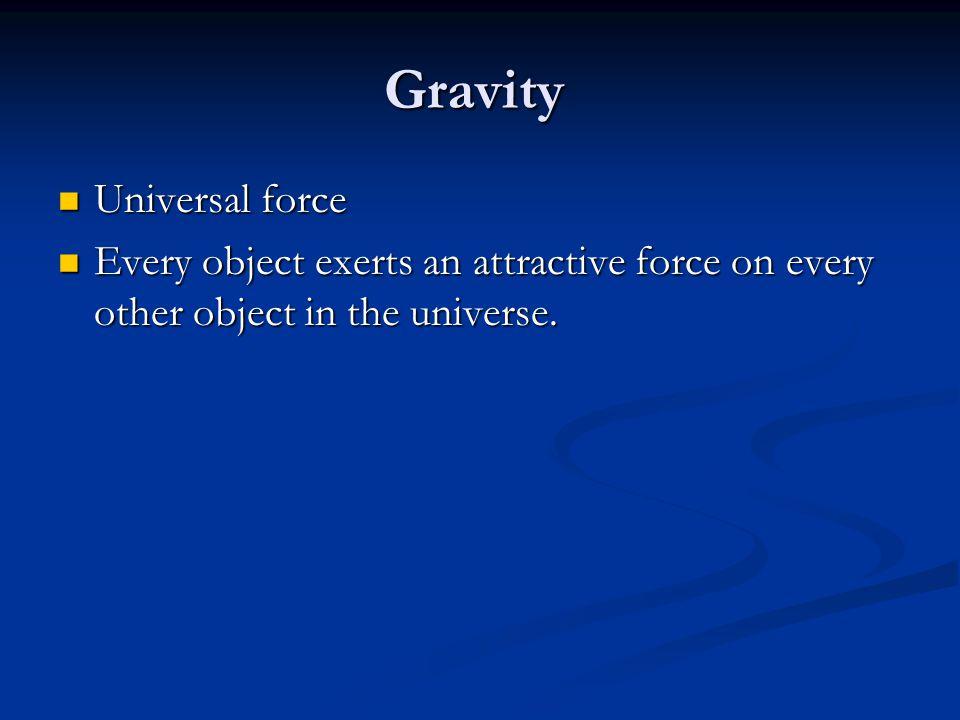 Gravity Universal force