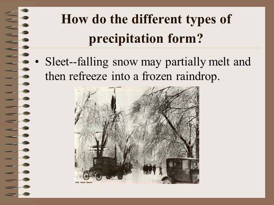 How do the different types of precipitation form