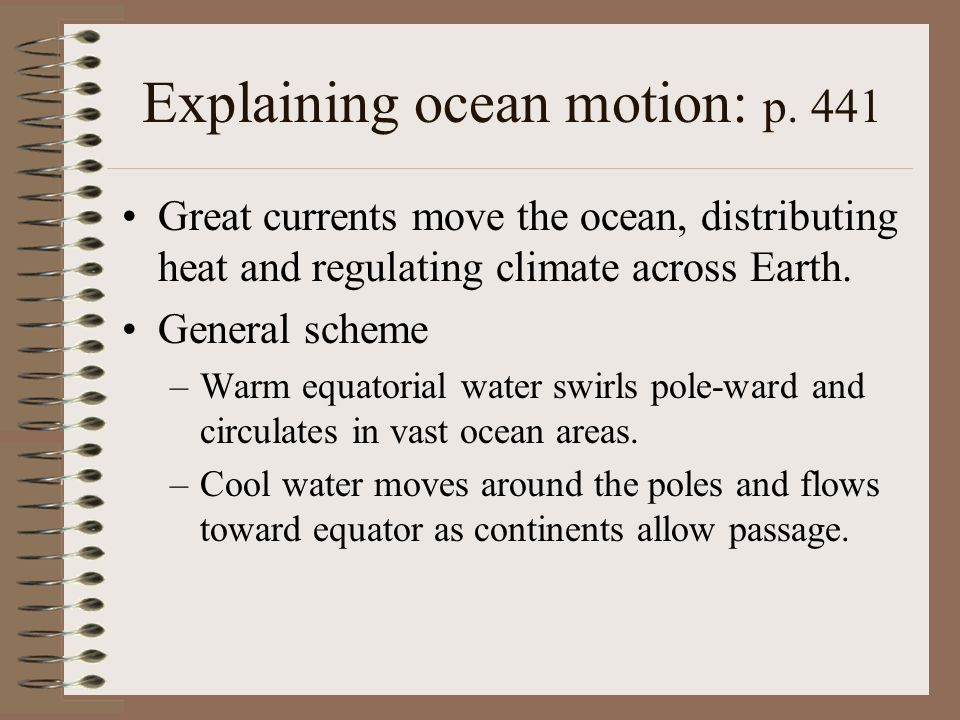 Explaining ocean motion: p. 441