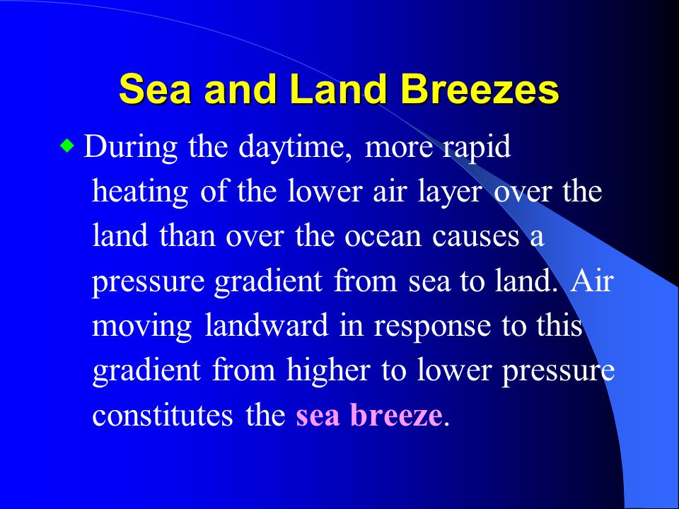 Sea and Land Breezes heating of the lower air layer over the