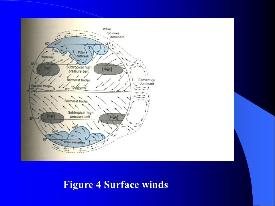 Figure 4 Surface winds
