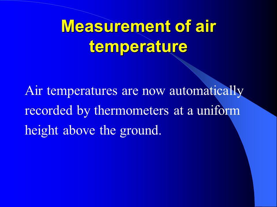 Measurement of air temperature
