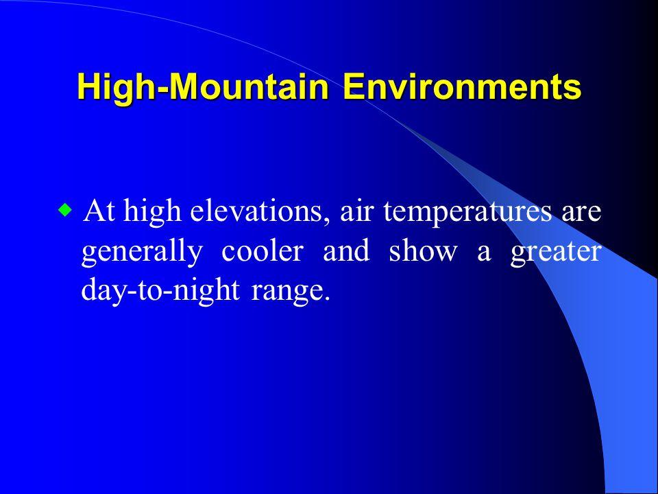 High-Mountain Environments