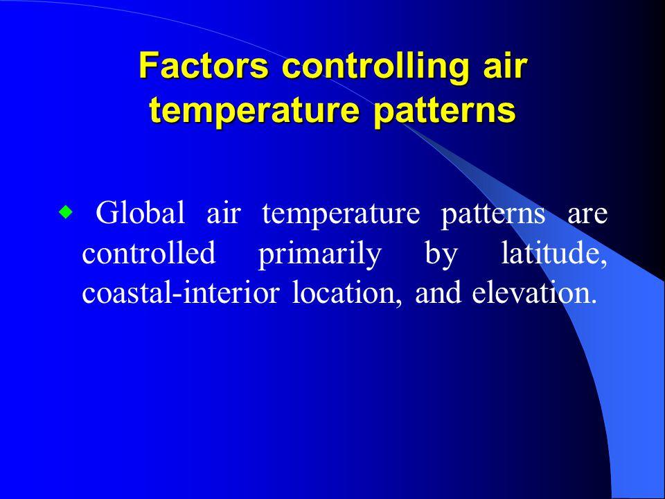 Factors controlling air temperature patterns