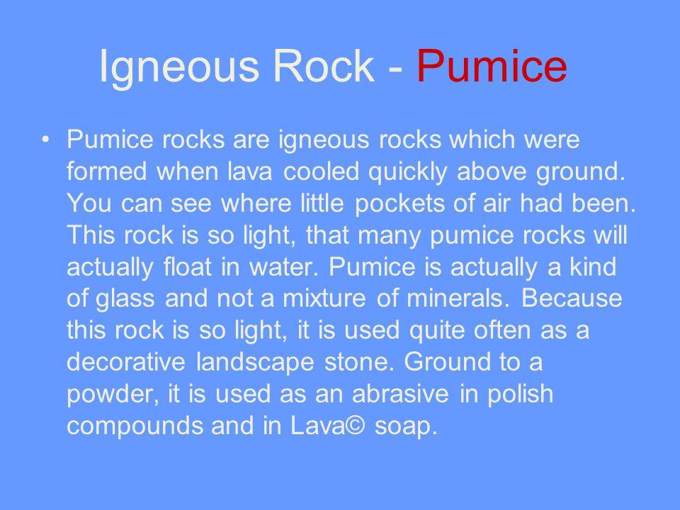 Igneous Rock - Pumice