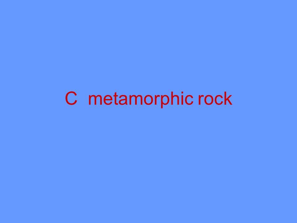 C metamorphic rock