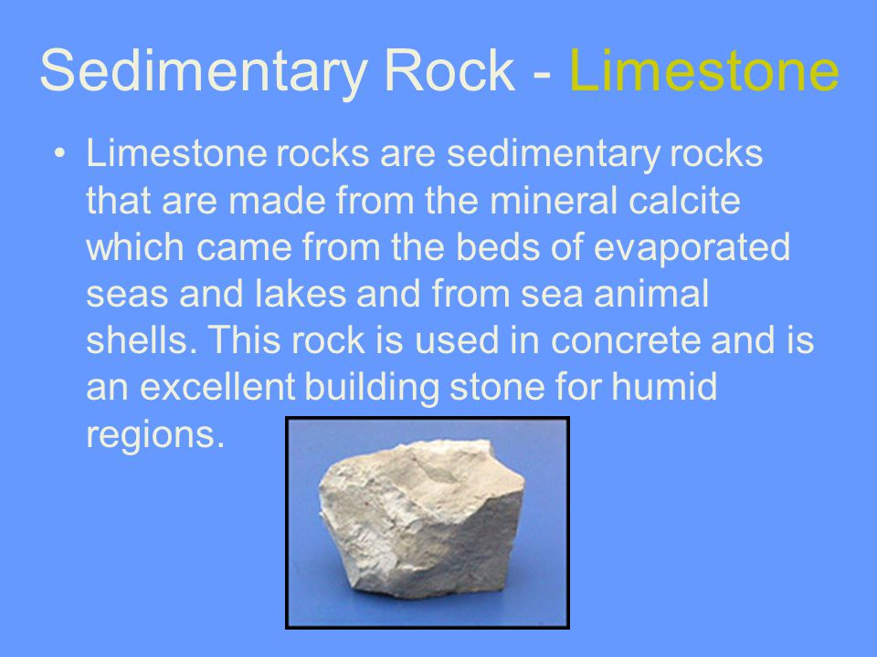 Sedimentary Rock - Limestone