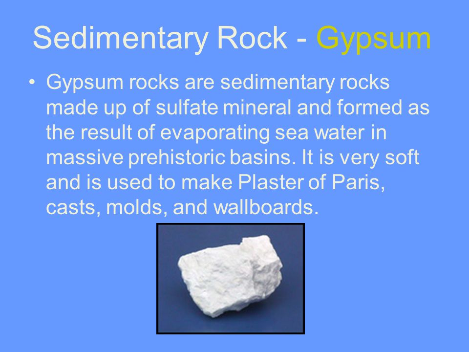 Sedimentary Rock - Gypsum
