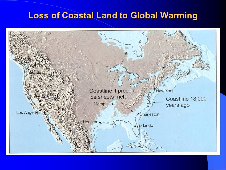 Loss of Coastal Land to Global Warming
