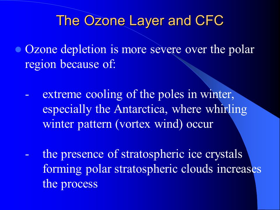The Ozone Layer and CFC