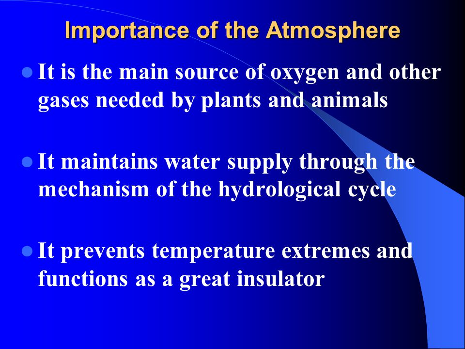 an introduction to the importance of water for the life on earth Hydrosphere includes all water bodies such as  lithosphere means the mantle of rocks constituting the earth's  it is otherwise known as the life.