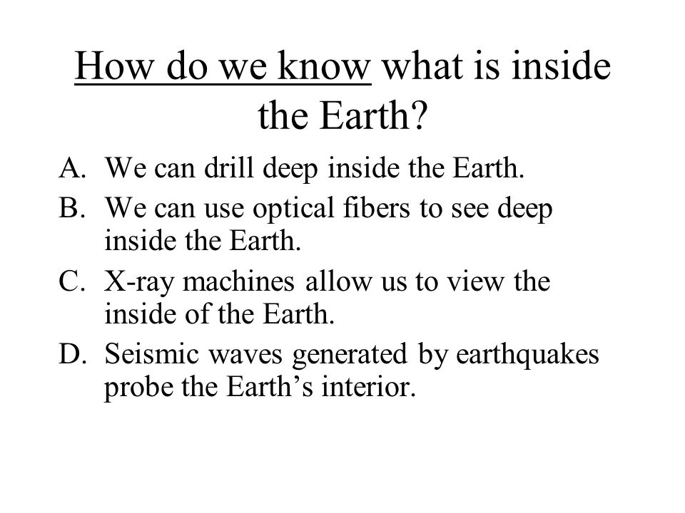 How do we know what is inside the Earth