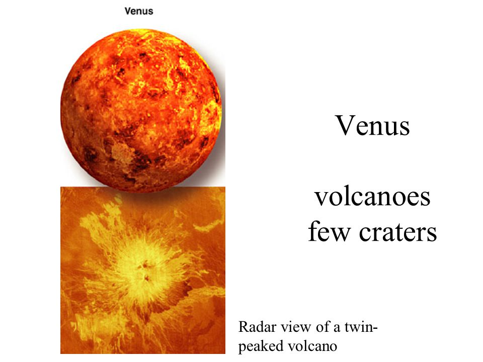 Venus volcanoes few craters