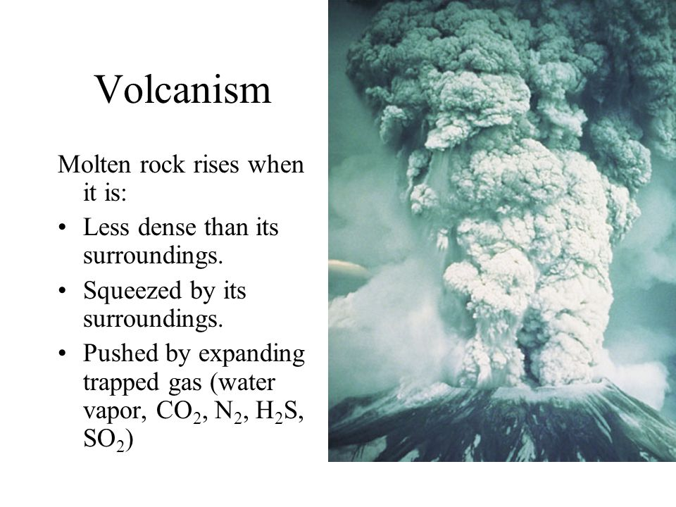 Volcanism Molten rock rises when it is: