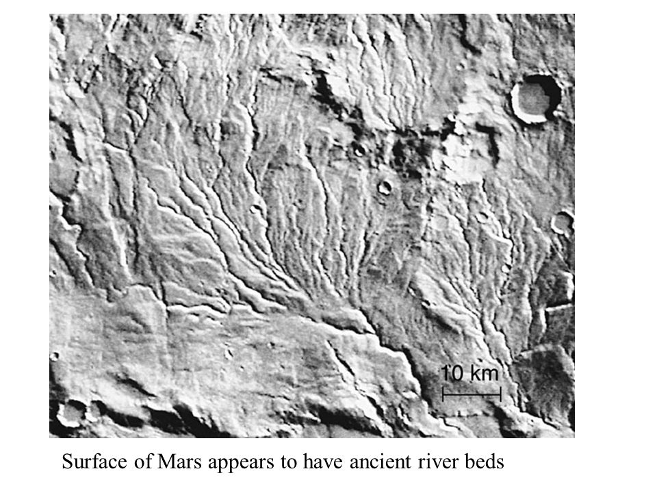 Surface of Mars appears to have ancient river beds