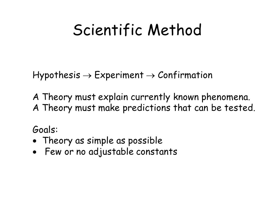 Scientific Method Hypothesis  Experiment  Confirmation