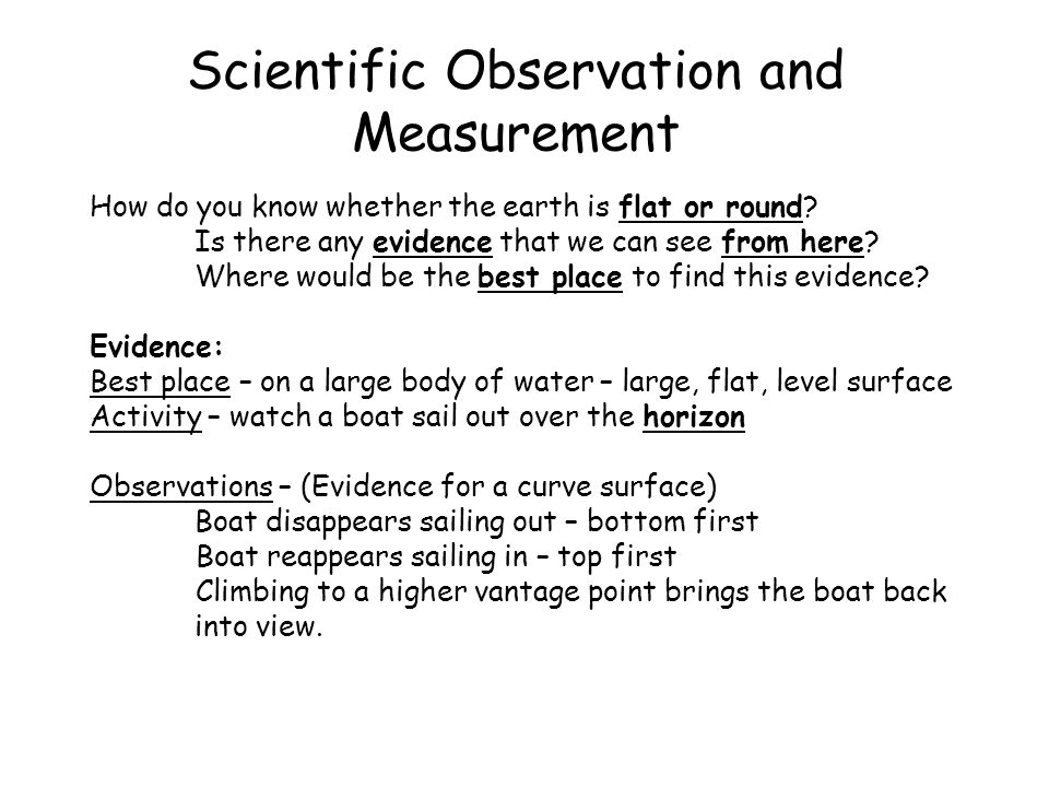 Scientific Observation and Measurement