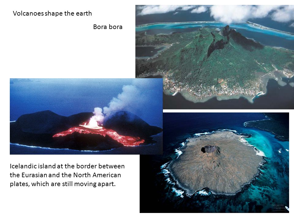 Volcanoes shape the earth