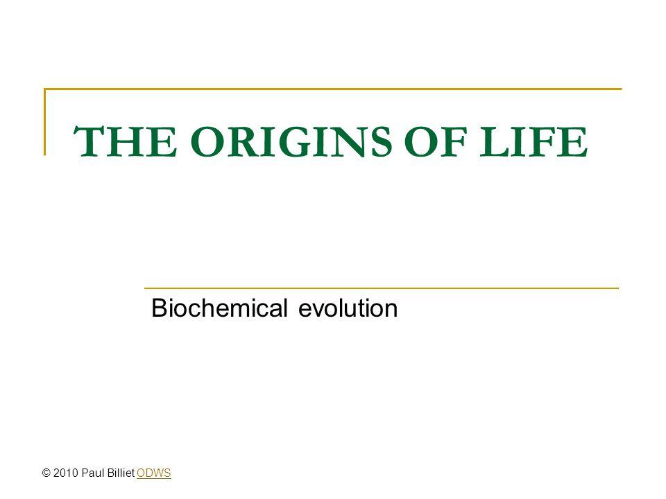 Biochemical evolution