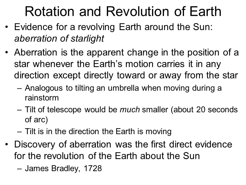 Rotation and Revolution of Earth