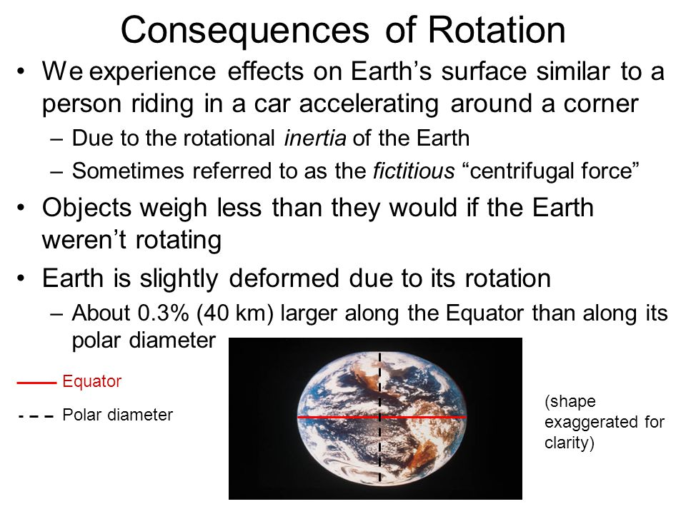 Consequences of Rotation