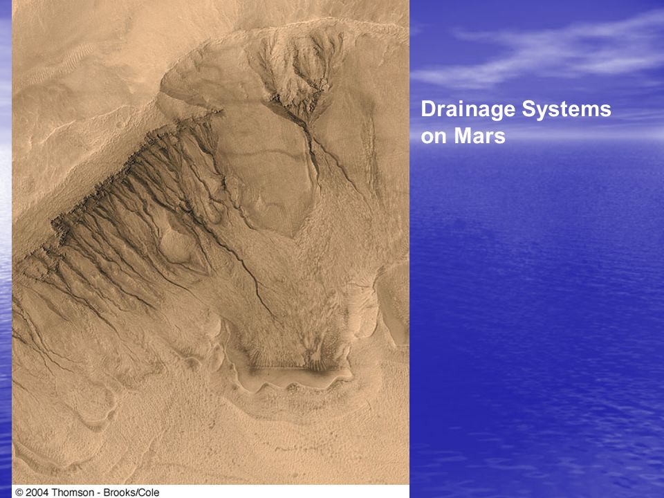 Drainage Systems on Mars