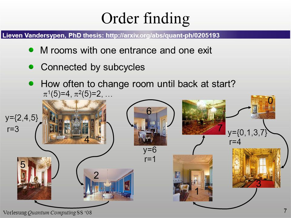 Order finding M rooms with one entrance and one exit