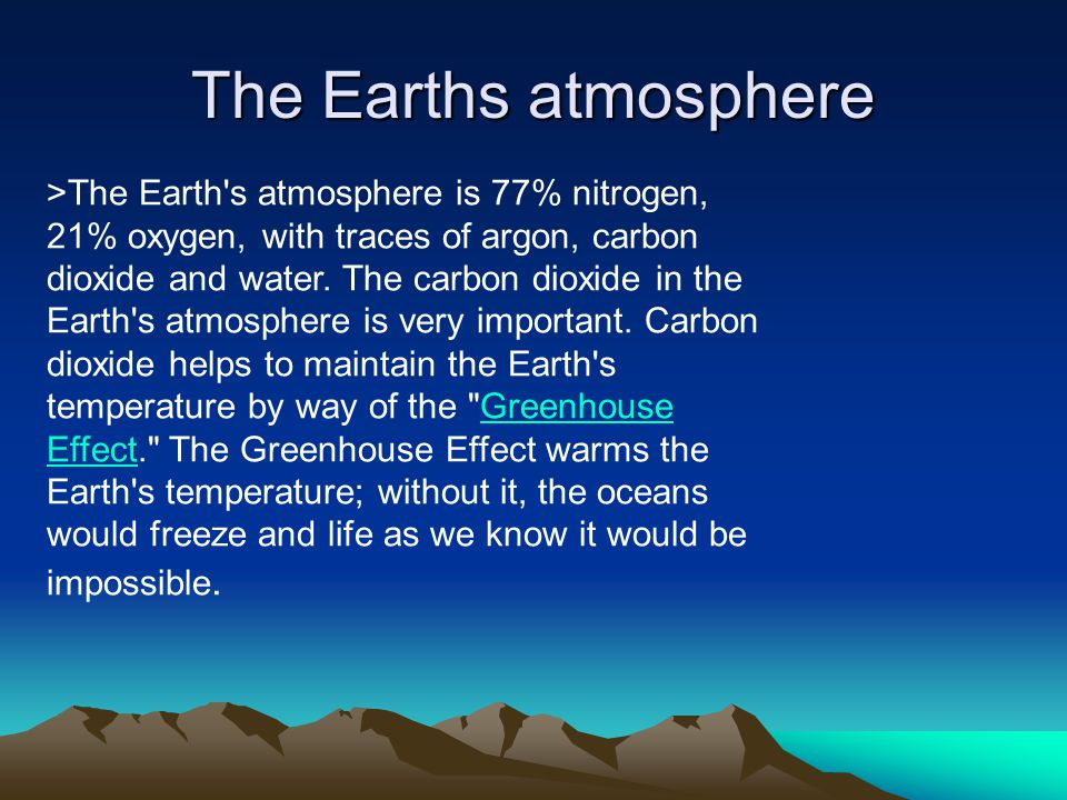 The Earths atmosphere