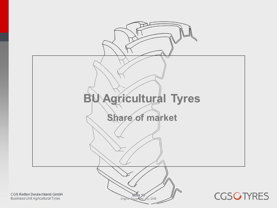 BU Agricultural Tyres Share of market