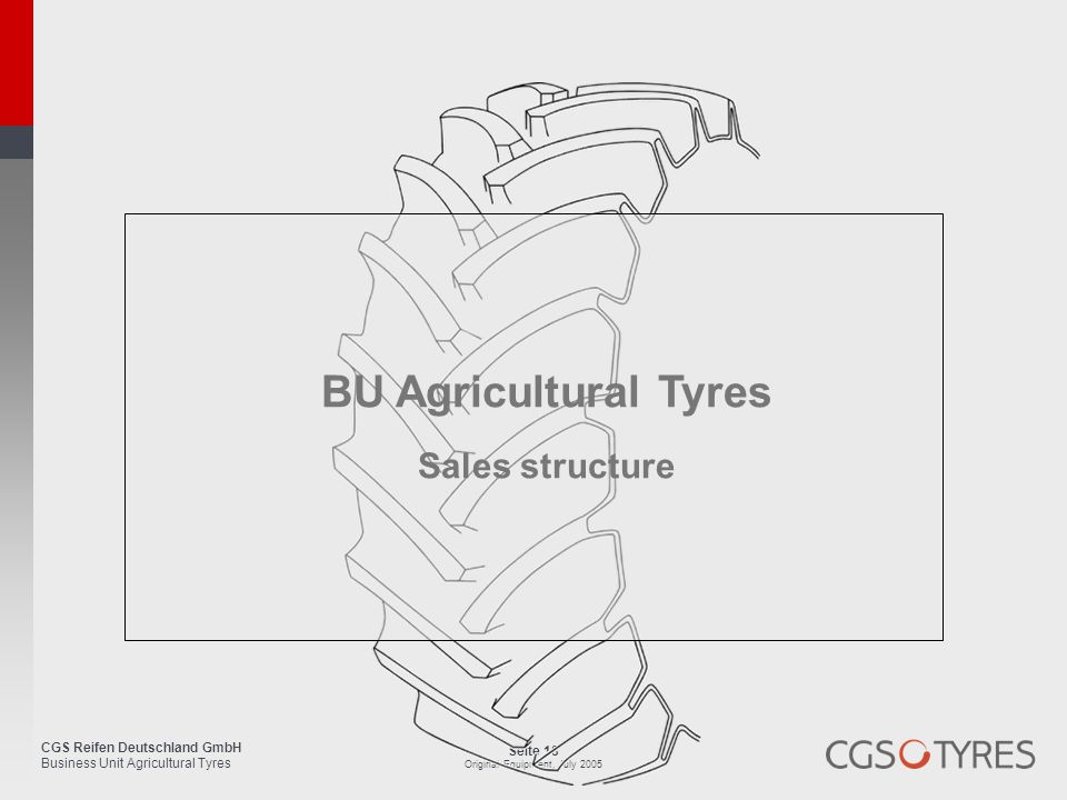BU Agricultural Tyres Sales structure