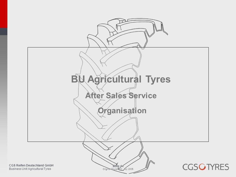BU Agricultural Tyres After Sales Service Organisation