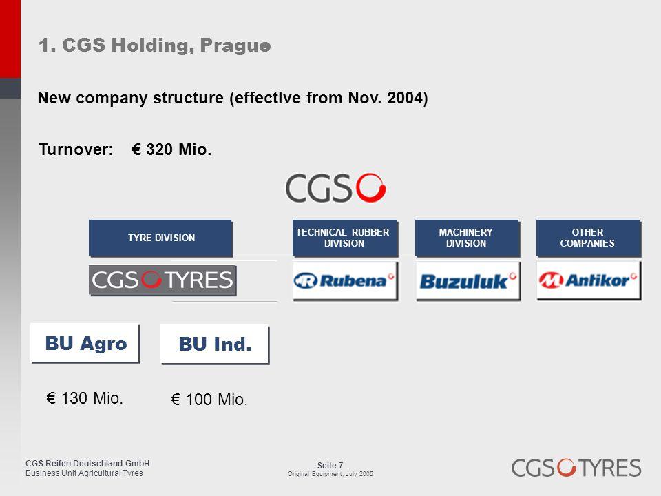 1. CGS Holding, Prague BU Agro BU Ind.
