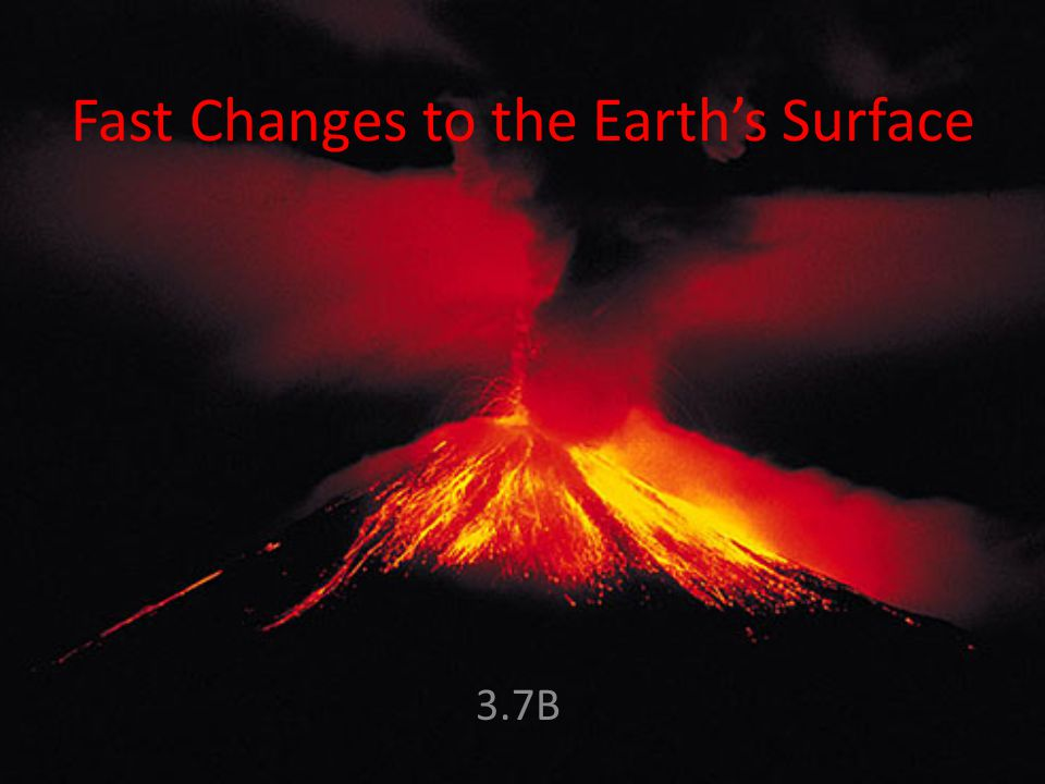 changes to the earths surface