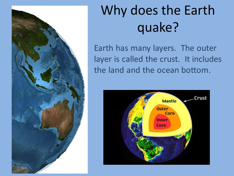 Why does the Earth quake