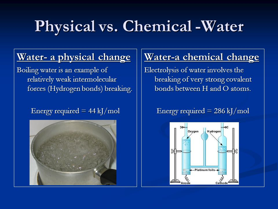 Physical vs. Chemical -Water