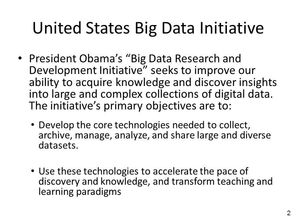 United States Big Data Initiative